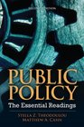 Public Policy The Essential Readings