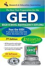 GED w/ CD-ROM (REA) - The Best Test Prep for the GED : 7th Edition (Test Preps)