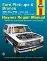 Haynes Repair Manuals Ford Full-Size Pickups and Bronco 1980-1996