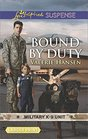 Bound by Duty (Military K-9 Unit, Bk 2) (Love Inspired Suspense, No 675) (Larger Print)
