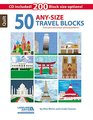 50 Any Size Travel Quilt Blocks  CD