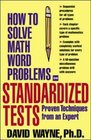 How To Solve Math Word Problems On Standardized Tests