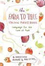 The Farm to Table Italian Phrasebook Language for the Love of Food