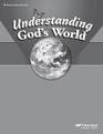 Understanding God's World Teacher Key to the Test and Quiz booklet