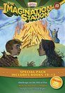 Imagination Station Books 3-Pack Challenge on the Hill of Fire / Hunt for the Devil's Dragon / Danger on a Silent Night