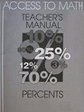 Access to Math: Percents - Teacher's Resource Manual