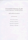 Constitutional Law Cases History and Dialogues  199798 Supplement