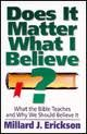 Does It Matter What I Believe What the Bible Teaches and Why We Should Believe It