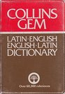 Collins Gem Latin Dictionary Latin English English Latin