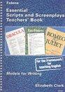 Essential Scripts and Screen Plays Teacher Book
