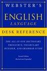 Webster's English Language Desk Reference