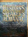 The Business Speaker's Almanac