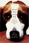 What the Dog Did : Tales from a Formerly Reluctant Dog Owner