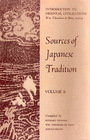 Sources of Japanese Tradition Vol 1