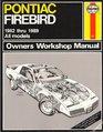 Pontiac Firebird 1982-89 Owner's Workshop Manual