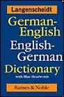 German-English English-German Dictionary with Blue Headwords