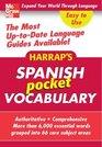 Harrap's Pocket Spanish Vocabulary