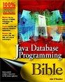 Java Database Programming Bible
