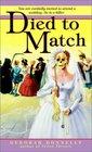 Died to Match  (Wedding Planner, No 2)