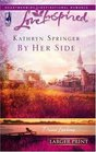 By Her Side (Davis Landing, Bk 2) (Love Inspired) (Large Print)