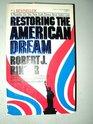 Restoring the American Dream