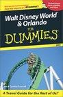 Walt Disney World and Orlando for Dummies 2003