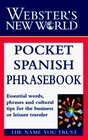 Webster's New World Pocket Spanish Phrasebook