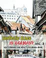 Fantastic Place In Germany Sketchbook for Adult Coloring Book Vol3 Adult Activity Book