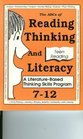 The ABC's of Reading, Thinking and Literacy: A Literature Based   Thinking Skill Program 7-12 (Teen Reading)