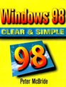 WINDOWS 98 CLEAR  SIMPLE