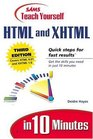 Sams Teach Yourself HTML and XHTML in 10 Minutes (3rd Edition)