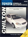 Toyota Corolla 2003 through 2005