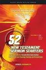 52 New Testament Sermon Starters Exegetical Preaching