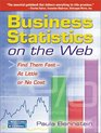 Business Statistics on the Web Find Them Fast-At Little or No Cost