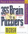 Mensa 365 Brain Puzzlers PageADay Calendar 2004  Calendars