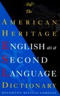 Dic American Heritage English As a Second Language Dictionary