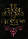 The Oxford Dictionary of Quotations Third Edition