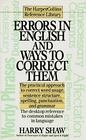 Errors in English and Ways to Correct Them (Harpercollins Reference Library)