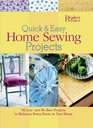 Quick and Easy Home Sewing Projects