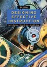 Designing Effective Instruction 3rd Edition