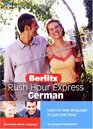 Berlitz Rush Hour German Learn a New Language in just One Hour