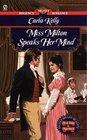 Miss Milton Speaks Her Mind (Signet Regency Romance)