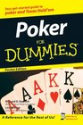Poker For Dummies Pocket Edition 2008