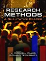 Research Methods A Qualitative Reader