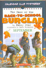 The Case of the Back-to-School Burglar