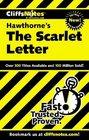 Cliffs Notes Hawthorne's The Scarlet Letter