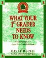 What Your 1st Grader Needs To Know