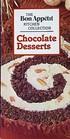 Chocolate Desserts (Bon Appetit Kitchen Collection)