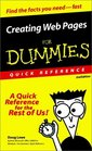 Creating Web Pages for Dummies Quick Reference