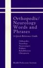 Orthopedic Neurology Words and Phrases